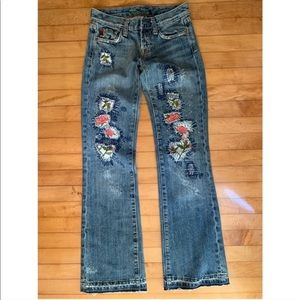 Miss Me Rose Patchwork Jeans